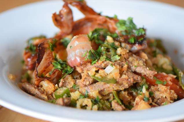Rindfleisch aus dem Wok mit Reis und Gemüse (23)