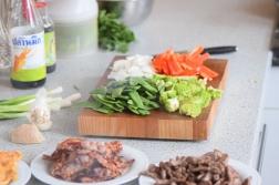 Rindfleisch aus dem Wok mit Reis und Gemüse (7)