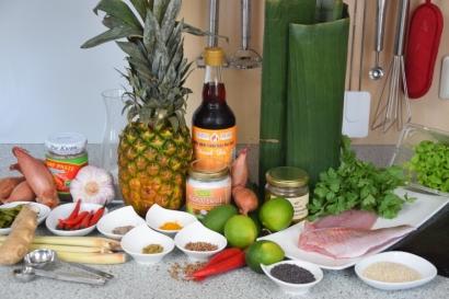 Rotbarbe in Ananas-Chili-Sambal (1)