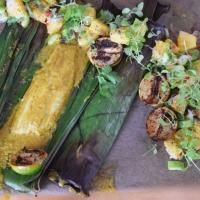 Rotbarbe in Ananas-Chili-Sambal