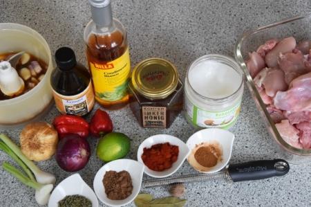 Scharfe Hähnchenkeulen mit Papaya-Mango-Salsa (1)