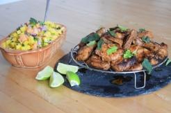 Scharfe Hähnchenkeulen mit Papaya-Mango-Salsa (4)