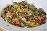 Scharfer Salat mit kalter Hühnerleber (5)