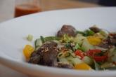 Scharfer Salat mit kalter Hühnerleber (7)