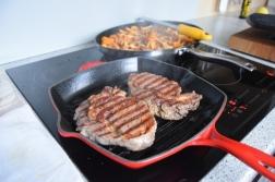 Steak mit Eierschwammerl und Rucola (2)