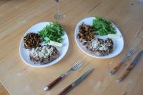 Steak mit Eierschwammerl und Rucola (4)