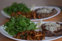 Steak mit Eierschwammerl und Rucola (5)