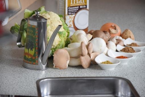 Blumenkohl-Curry mit Pilzen (1)