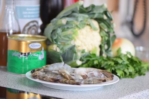 Garnelen mit Blumenkohl-Reis (1)