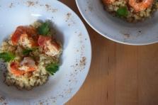 Garnelen mit Blumenkohl-Reis (4)