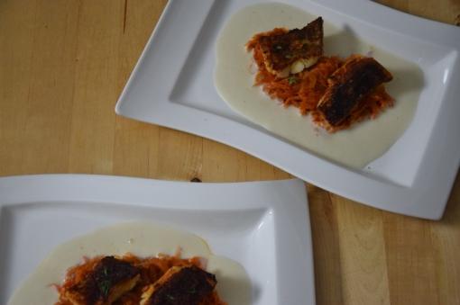 Gebratener Zander auf Paprikakraut und Welschrieslingschaum (12)