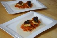 Gebratener Zander auf Paprikakraut und Welschrieslingschaum (14)