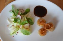 Jakobsmuscheln mit Bierrettichsalat und Chilikonfitüre (5)
