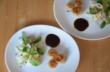 Jakobsmuscheln mit Bierrettichsalat und Chilikonfitüre (6)