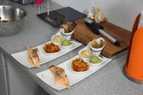 Lachs, Guacamole, Tomaten-Salsa (4)