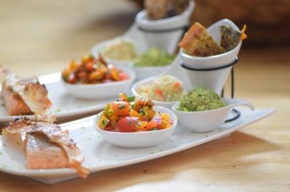 Lachs, Guacamole, Tomaten-Salsa (6)