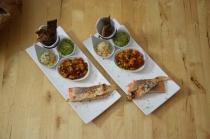 Lachs, Guacamole, Tomaten-Salsa (7)