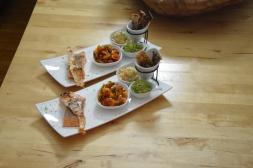 Lachs, Guacamole, Tomaten-Salsa (8)