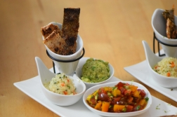 Lachs, Guacamole, Tomaten-Salsa (9)
