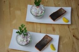 Lachs mit Tomaten-Tsatsiki (2)