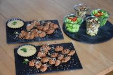 Paniertes Hähnchen mit Miso-Mayonnaise (6)