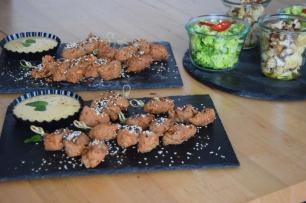 Paniertes Hähnchen mit Miso-Mayonnaise (7)