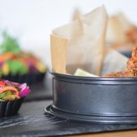 Kalbsfleischkroketten mit Krautsalat