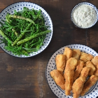 Backfisch mit Salat
