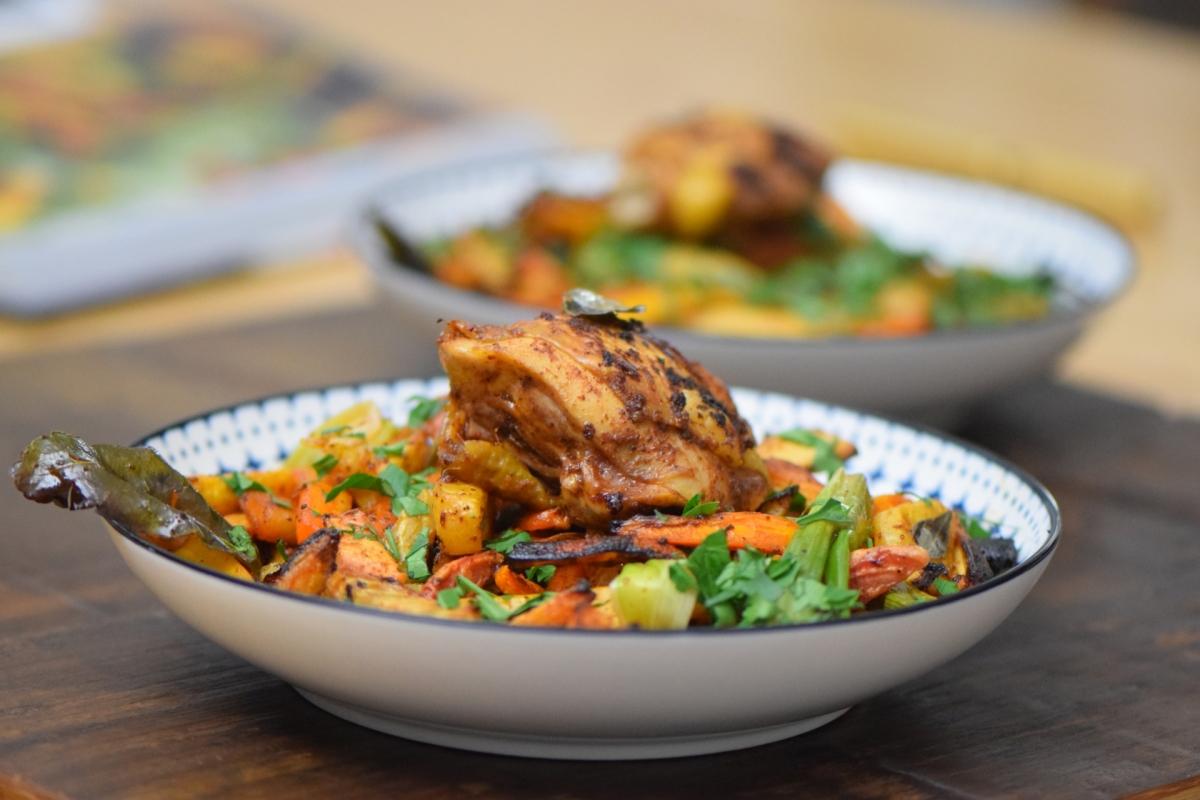 Curry-Huhn mit Wurzelgemüse