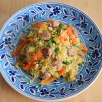 Salsiccia und Sauerkraut