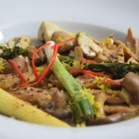 Hähnchen-Frikassee mit Champignon-Gemüse