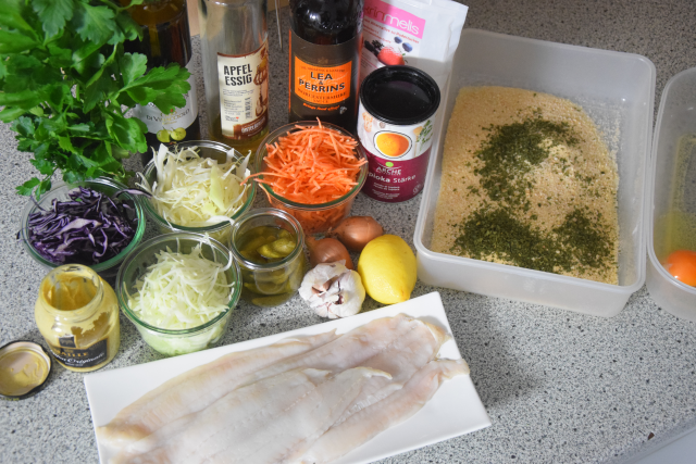 Scholle paniert mit Krautsalat und Sauce Tatar (1)