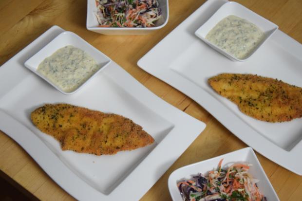 Scholle paniert mit Krautsalat und Sauce Tatar (4)
