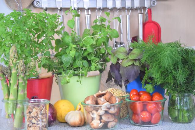 Fregola-Salat mit Spargel und Shiitake-Pilzen (1)