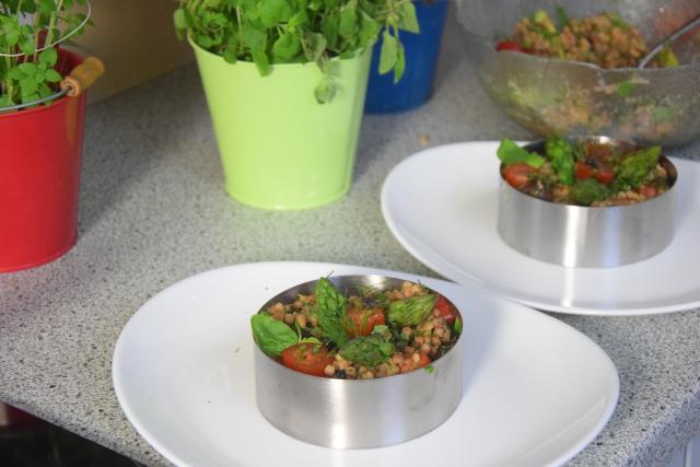 Fregola-Salat mit Spargel und Shiitake-Pilzen (4)