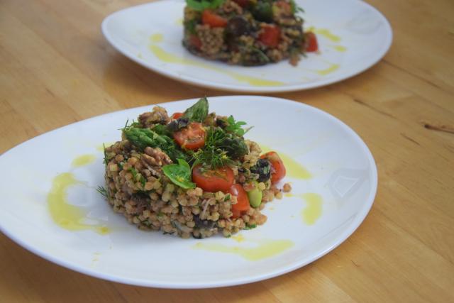 Fregola-Salat mit Spargel und Shiitake-Pilzen (5)