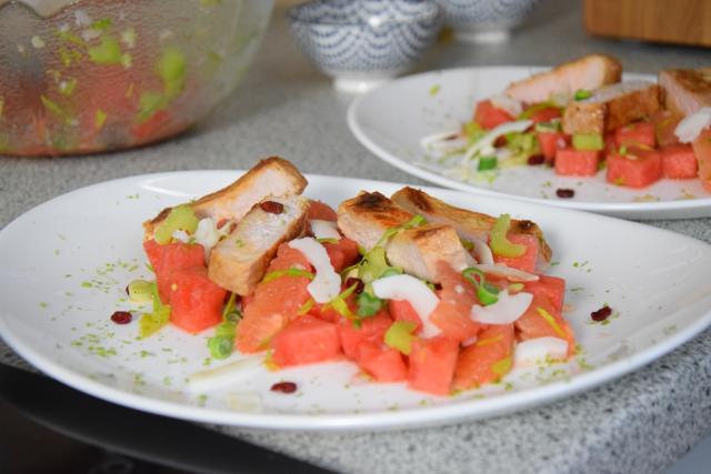 Schweinskarree mit Wassermelone (3)