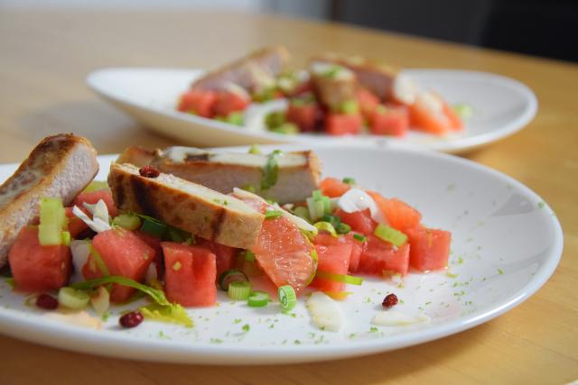 Schweinskarree mit Wassermelone (5)