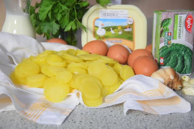 Spinat mit Spiegelei und Kartoffeln nach Art von Sarlat (2)