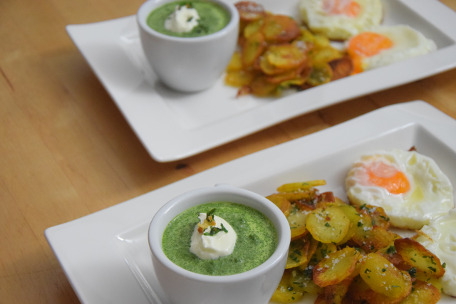 Spinat mit Spiegelei und Kartoffeln nach Art von Sarlat (7)