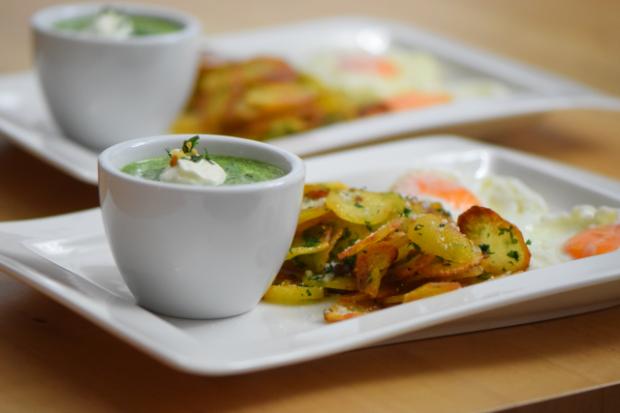 Spinat mit Spiegelei und Kartoffeln nach Art von Sarlat (8)