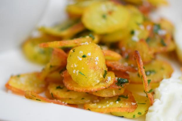 Spinat mit Spiegelei und Kartoffeln nach Art von Sarlat (9)