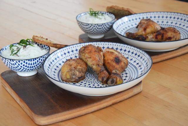 Hühnchen-Keulen mit Tsatsiki (1)