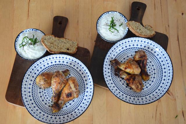 Hühnchen-Keulen mit Tsatsiki (3)