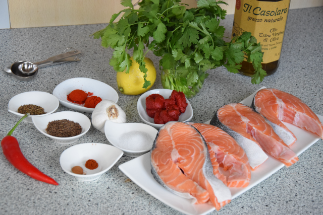 Lachssteak in Chraimeh-Suppe (1)