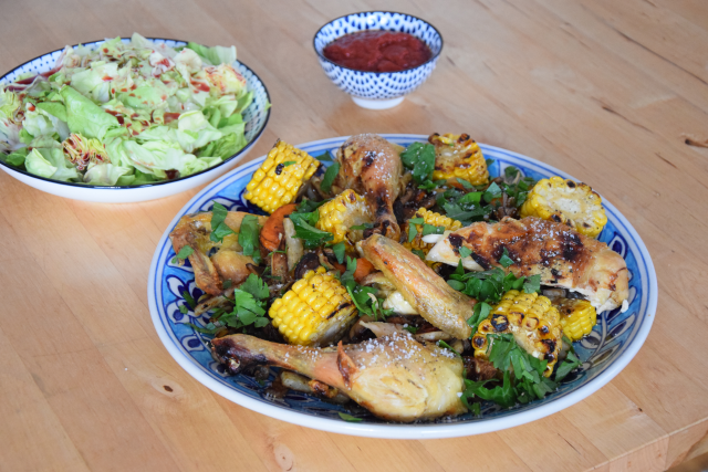 Hähnchen in der Gemüsepfanne (4)