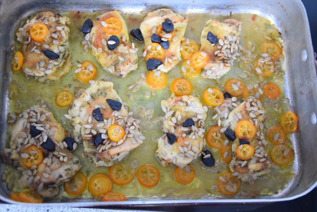 Kohl, Kumquat, Knoblauch und Hähnchen (3)