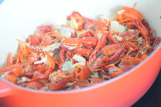 Seezungenfilet mit Sauce Nantua und Spinat (3)