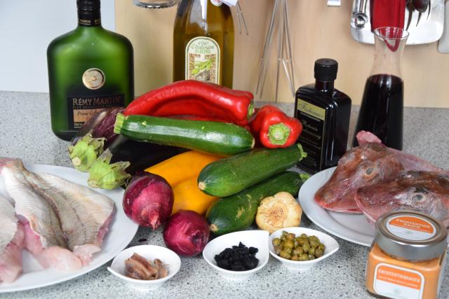 Knurrhahn mit Tian und Rotwein-Sauce (1)