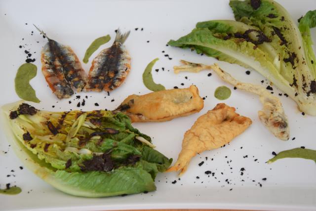 Estragon Cuisine | Sardinen Mit Gegrillten Romanasalatherzen Und Estragon Jus